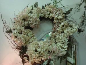 Dried Hydrangea & Fern Wreath